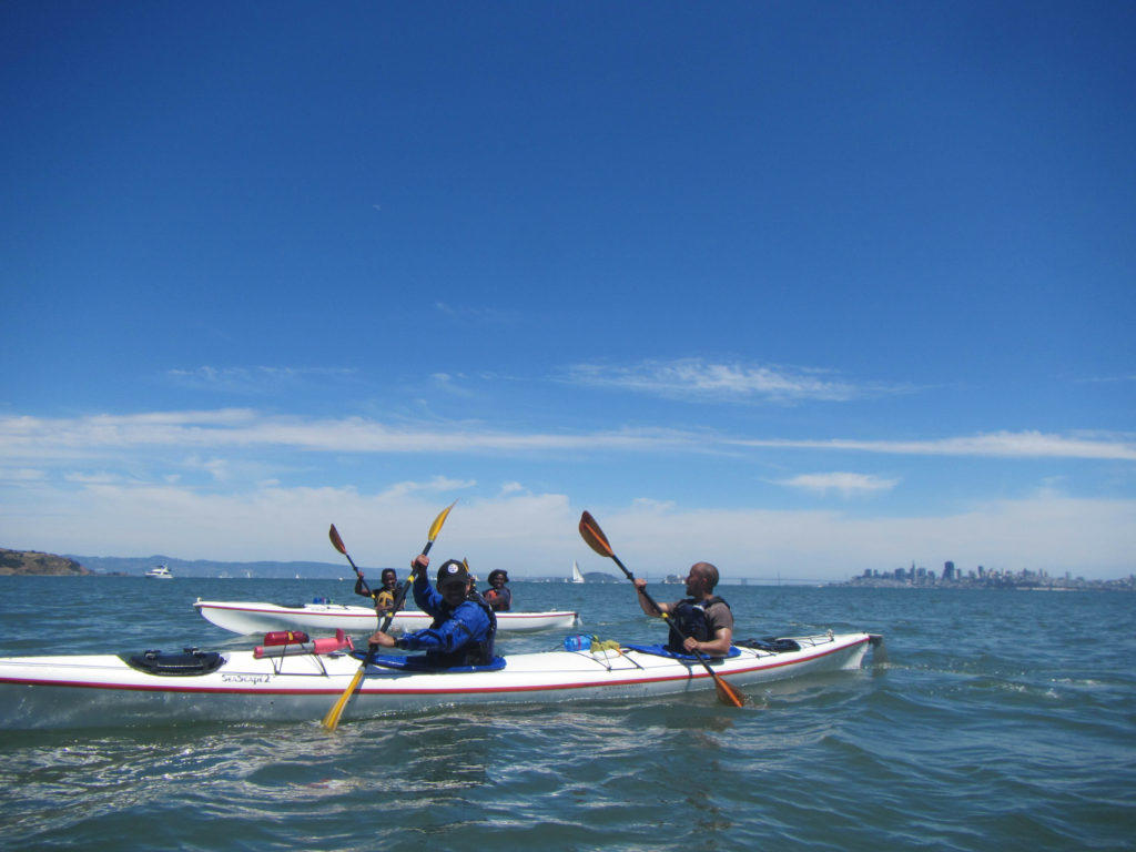 Kayaking near Sausalito