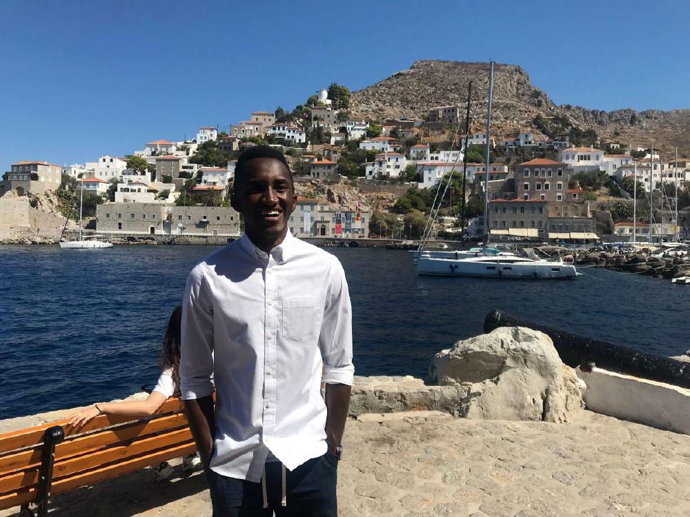 Chris Emelife, Achiever in Santori, Greece